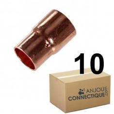 Lot de 10 réductions Cuivre NF Femelle Femelle Ø22-14