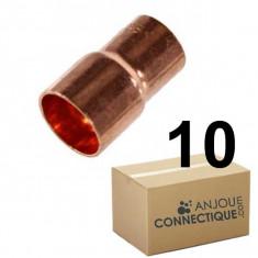 Lot de 10 réductions Cuivre NF Mâle Femelle Ø22-18