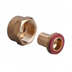 Raccord 2 pièces Femelle 20x150 - Tube cuivre - Butane / Propane