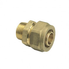 "Raccord à compression tube PER Ø12 - Mâle fixe 1/2"" (15/21) - Somatherm"