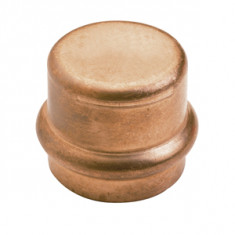 Raccord cuivre à sertir - Bouchon Femelle Ø15