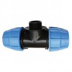Raccord plastique tube PE - Raccord en Té fileté mâle réduit