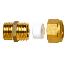 Raccord laiton bicône droit (Mâle 3/8x10) - Watts 22L0702210