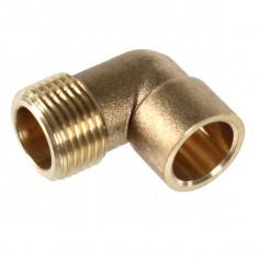 Raccord laiton à souder pour tube cuivre Ø12mm à 28 mm- Coude 90° Mâle 92 GCU