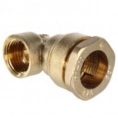 Raccord laiton coude femelle 90° pour tube PE