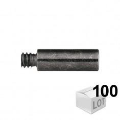 Chevilles PC crampon verte en grappe 8x34 - 100 pièces