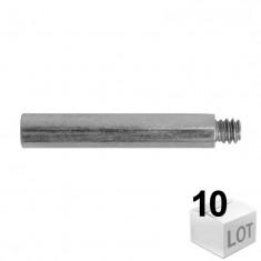 10 Rallonges de patte à vis acier zingué - filetage 7x150mm - 6 modèles - Ram
