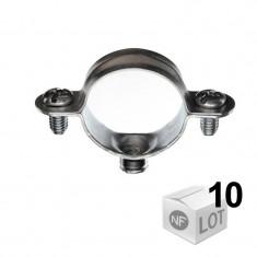 10 Colliers métalliques en acier simple isophonique - Ø12 ou Ø14 ou Ø16 ou Ø18 ou Ø22 - RAM