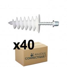 40 chevilles ISORAM avec 40 pattes à vis 7x45 - Ram