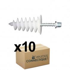 10 chevilles ISORAM avec 10 pattes à vis 7x45 - Ram