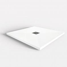 Receveur de douche extra-plat Solid Surface blanc - Lazer