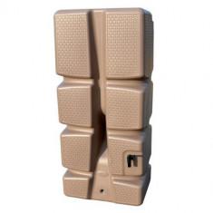 Récupérateur d'eau 310 L Recup'o Décor Tressé TAUPE - Dim. L 60 x l 40 x P 133 cm - EDA Plastiques