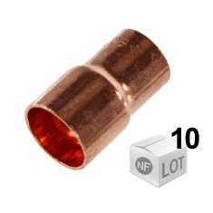 Lot de 10 raccords cuivre à sertir Ø12mm à Ø22mm - Manchon Femelle