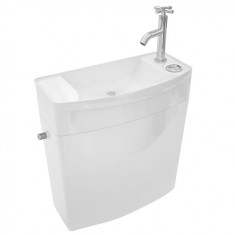Réservoir ISE'O combiné Lave-Mains double touche attenant blanc en ABS- WIRQUIN