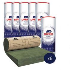 6 rouleaux laine de verre URSA PRK 35 TERRA revêtu kraft - Ep. 140mm - 33,12m² - R 4.0