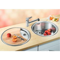 Évier de cuisine en inox Blanco Rondoset - L 460 x l 390 x P 165 mm / L 460 x l 390 x P 33 mm - sous-meuble 60 cm - Blanco
