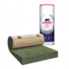 10 rouleaux laine de verre URSA MRK 40 TERRA revêtu kraft - Ep. 200mm - 48,60m² - R 5