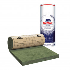 10 rouleaux laine de verre URSA MRK 40 TERRA revêtu kraft - Ep. 120mm - 78m² - R 3.0