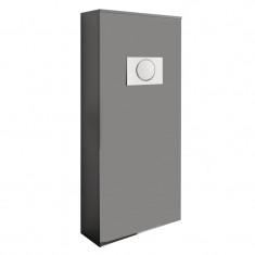 Habillage bâti-support pour WC suspendu - UNIT - gris mat - Salgar 25366