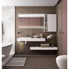 Ensemble de salle de bain avec vasque semi encastré - COMPAKT 1200 - Salgar