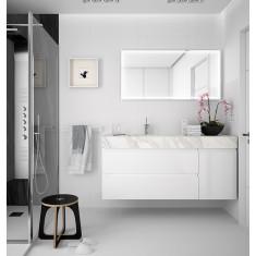 Ensemble de salle de bain avec vasque intégrée - COMPAKT 1400 - Salgar