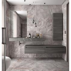 Plan de toilette et vasque intégrée + meuble de salle de bain - COMPAKT 1400 - Salgar