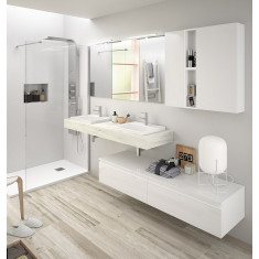 Ensemble meuble de salle de bain - COMPAKT 1600 - Salgar