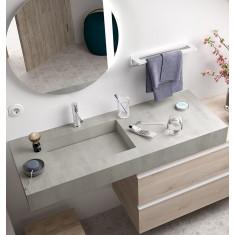 Plan de toilette et vasque intégrée + meuble de salle de bain - COMPAKT 1900 - Salgar