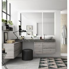 Ensemble de salle de bain avec vasque à poser - COMPAKT 2100  - Salgar