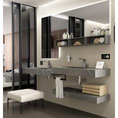 Ensemble de salle de bain avec vasque intégrée - COMPAKT DOUBLE 1000 - Salgar
