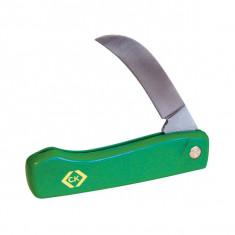 Serpette couteau élagage repliable 95mm - Lame avec dos plat