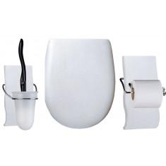 Set OLFA accessoires WC Argent Métal