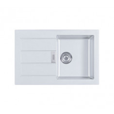 Evier SIRIUS SID611-78 Blanc artic (sous meuble 50cm) 780x500x202mm