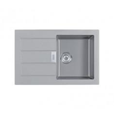 Evier SIRIUS SID611-78 Titanium (sous meuble 50cm) 780x500x202mm