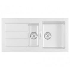 Evier SIRIUS SID651 Blanc artic (sous meuble 60cm) 1000x510x190/160mm