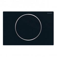 Plaque de déclenchement noir mat laqué Sigma10 pour rinçage interrompable - Geberit