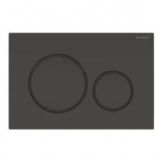 Plaque de déclenchement noir et noir mat Sigma20 pour rinçage double touche - Geberit