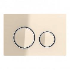 Plaque de déclenchement blanc mat, sable Sigma21 pour rinçage double touche chromé - Geberit