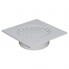Siphon de sol PVC 300x300mm sortie verticale Ø100/200
