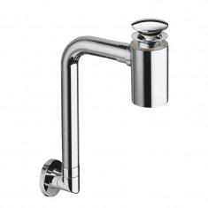 Siphon lavabo gain de place avec bonde Chromé - Cristina Ondyna BUS33351