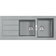 Évier SIRIUS SID621 - Urban grey - 1190x510x190/200 mm - Sous meuble 80 cm - Franke