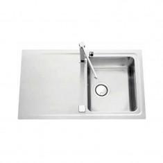 Évier de cuisine Inox lisse STROMBOLI - L 870 x l 510 x P 195 mm - sous-meuble de 50 cm