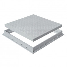 Tampon de sol PVC renforcé avec cadre anti-choc- GRIS - FIRST-PLAST