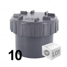 Lot de 10 raccords PVC - Tampon de visite Ø32 ou Ø40 ou Ø50 ou Ø100 PVC NF ME First Plast