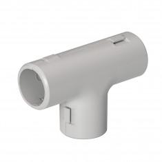 Té pour tube IRL Mureva pvc gris clair