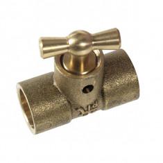 Raccord laiton à souder - Té droit 130 GCU Ø16 avec purgeur - Arcanaute