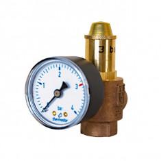 THERMADOR Soupape de sécurité Bronze 3 bar-139kW+manomètre-Femelle 1/2