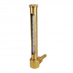 Thermomètre chauffage vertical plongeur équerre 60mm