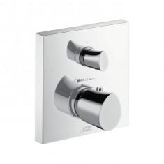 Set de finition pour mitigeur thermostatique encastré avec robinet d'arrêt et inverseur 12716000