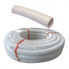 Tube de vidange PVC souple annelé Ø 40mm - Rouleau 20 mètres - Regiplast